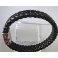 Costume Jewellery Fashion Leather Bracelets wit 316L Stainless Steel Buckle Manufactures
