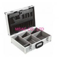 Custom Silver Aluminum Tool Cases , Tool Carrying Case With Plastic Handle Manufactures