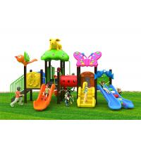 China Modular Plastic Play House With Slide , Large Size Plastic Outdoor Slide Set on sale