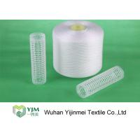 100 Percent Raw White Ring Spun Polyester Yarn For Apparel Sewing And Knitting Manufactures