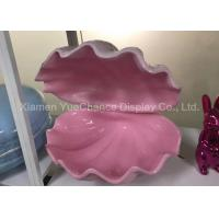China Large Size Pink Fiberglass Sea Shell With Smooth Inside For Displaying Bag / Shoes on sale