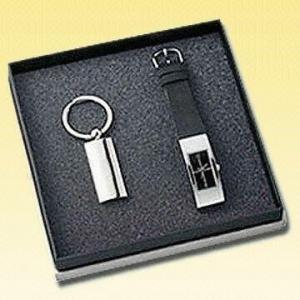 China One-Piece Elegant Quartz Analog Watch with Metal Keychain on sale