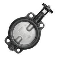 Wafer Style Stainless Steel Disc Butterfly Valve with Epoxy-Coated Ductile Iron Body Manufactures