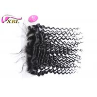 """China Natural Hairline Virgin Malaysian Deep Wave 13x4.5 Ear To Ear Lace Frontal 16"""" wholesale"""