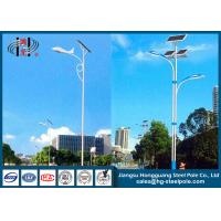Conical , Round Outdoor Solar Powered Light Post Outdoor Lamp Pole With Solar Panel Manufactures
