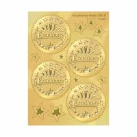 """2"""" Diameter Gold Foil Seals , Professional Gold Seal Stickers For Certificates Manufactures"""