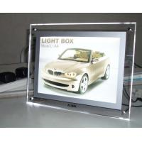 Lighting Clear Advertising Acrylic Photo Frames With LED Light Manufactures