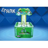 China Cartoon Patterns Electronic Kids Coin Operated Game Machine Hit Frog Double Player on sale