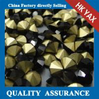 black color point back glass rhinestones,china factory price glass rhinestones point back,pointback glass stone Manufactures