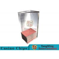 250g Triangle 6 Deck Card Holder High Capacity With Special Acrylic Material Manufactures