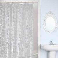 Printed shower curtain, made of PVC Manufactures