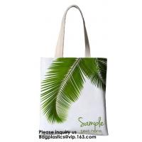 Printing Palm Leaf Canvas Bag Cotton Canvas Handle Tote Bag Cotton Bag Customized Cheap Eco Silk Screen Printing Logo Re Manufactures