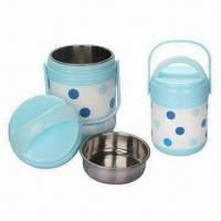 China Insulation Plastic Lunch Box, Food Grade PP Plastic, Safe to health, 4 Pieces Set Food Warmer on sale