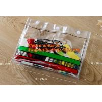 China OEM cheap price plastic clear zipper school pencil case bag on sale
