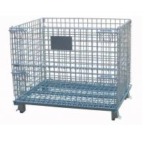 Durable Collapsible Wire Container With Printing Name Card For Transshipment Manufactures