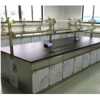 China Commercial Stainless Steel Biology Lab Furniture / Workbench With Drawers Clean Workshop Use on sale