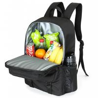 China Soft Insulated backpack food delivery lunch bag large capacity fresh storage food   for picnic on sale