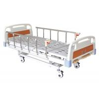 Foldable Metal 3 Crank Hospital Bed Hand Control Comfortable Removable Easy Cleaning Manufactures
