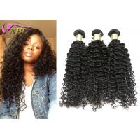 Strong Raw Curly 100 Unprocessed Virgin Brazilian Hair , Real Brazilian Hair Weave Manufactures