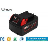 Milwaukee Tools Battery 18V 3000mAh , Lithium Ion Rechargeable Battery Pack Manufactures