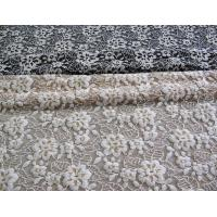 Floral Brushed Elastic Lace Fabric Ivory Stretchable AZO Free Dyeing CY-LW0652 Manufactures