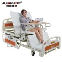 Healthcare Back Lift And Leg Rest , Turn Over Electric Home Beds With Toilet Manufactures
