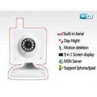 90 Degree Night Vision Remote Wireless Mini CCTV Camera With 300K Pixels Support Video Manufactures