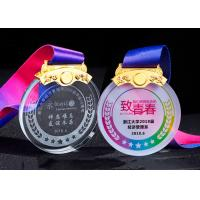 White Transparent Crystal Metal Award Medals For Kids In Drawing Competion Manufactures