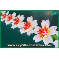 Durable Inflatable Flowers Wedding With Changing Led Lights Custom Design Manufactures