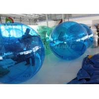 2m Dia Blue PVC Inflatable Walk On Water Ball Customized For Kids And Adults Manufactures