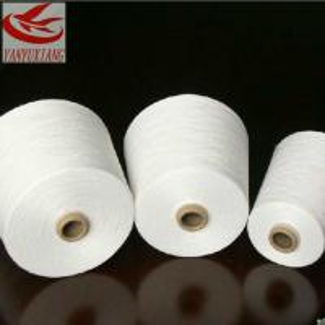 44/1 raw white polyester spun closed virgin yarn instock Manufactures