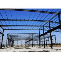 Glass Cover Steel Frame Greenhouse , Galvanized Steel Greenhouse Frame Studdy Manufactures