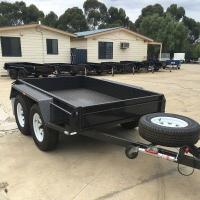 High Side 10x6 Flatbed Tandem Box Trailer With Full Checker Plate Manufactures
