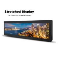 Commercial Stretched Wall Mount Lcd Display 28 Inch 697.7 * 130.7mm For Subway Manufactures