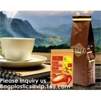 Custom Printed Doypack Resealable Ziplock Standing Up Pouches Aluminum Foil Coffee Packaging Bags With Zipper Manufactures