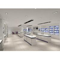 Quality Modern Nice White Showroom Display Cases / Jewelry Display Cases Custom Logo for sale
