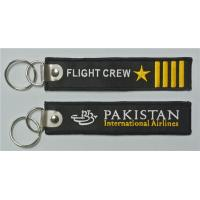 China Pakistan International Airlines Flight Crew Star 4 Bars Aviation Embroidered Key Chain Keyrings on sale