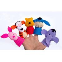 Classical Disney Felt Plush Finger Puppets , Donkey / Tigger / Piglet / Pooh / Elephent Manufactures