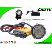 Buy cheap Waterproof LED Miners Lamp 25000lux Brightness With 10.4 Ah Big Battery Capacity from wholesalers