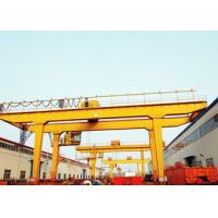 China Movable Double Girder Gantry Crane 50Ton Container Cabin Pendant Remote Control for sale
