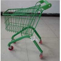 China Colorful European Child Size Metal Shopping Cart Wire Basket Trolley 460×330×630 mm on sale