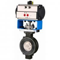 150lbs,300lbs Pneumatic Actuated Flanged High Performance Butterfly Valves OEM Manufactures