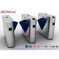 Entrance Flap Barrier Gate Turnstile SUS 304 With Fingerprint Recognition System Manufactures