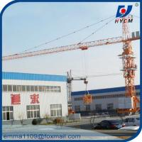 China TC5010 Mobile Tower Crane 50m Working Booom and Rail Travel Base Type on sale
