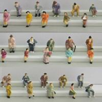 China boutique 1:87 seated figures ,scale figures,1/87 figures,model people,color HO figures,scale people,model train people on sale