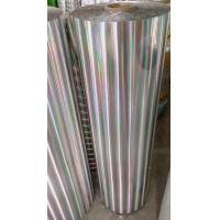 China Hot sell PET Hologram Thermal metallized and transparent Lamination Film for paper board wholesale