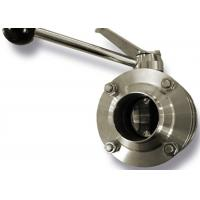 China 2 Inch Hygienic Butt Weld Butterfly Valve High Corrosion Resistant , Easily Welded on sale