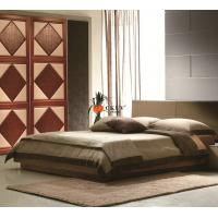 Kitchen Leather interior wood sliding doors With  Wheel Rail  / Magnetic Lock Manufactures