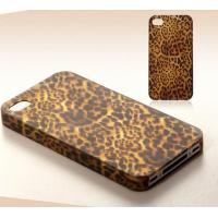 Leopard Leather Skin Cell Phone Covers Plastic Cover For Iphone 4/5G Manufactures