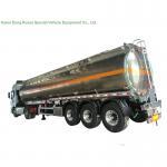5083 Aluminium Alloy Tank Semi Trailer 40000L , Fuel Oil Delivery Tanker 3 Axle Manufactures